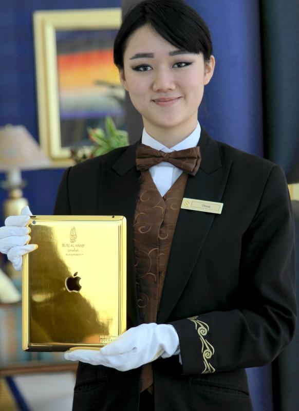 Burj Al Arab - 24 carat gold iPad