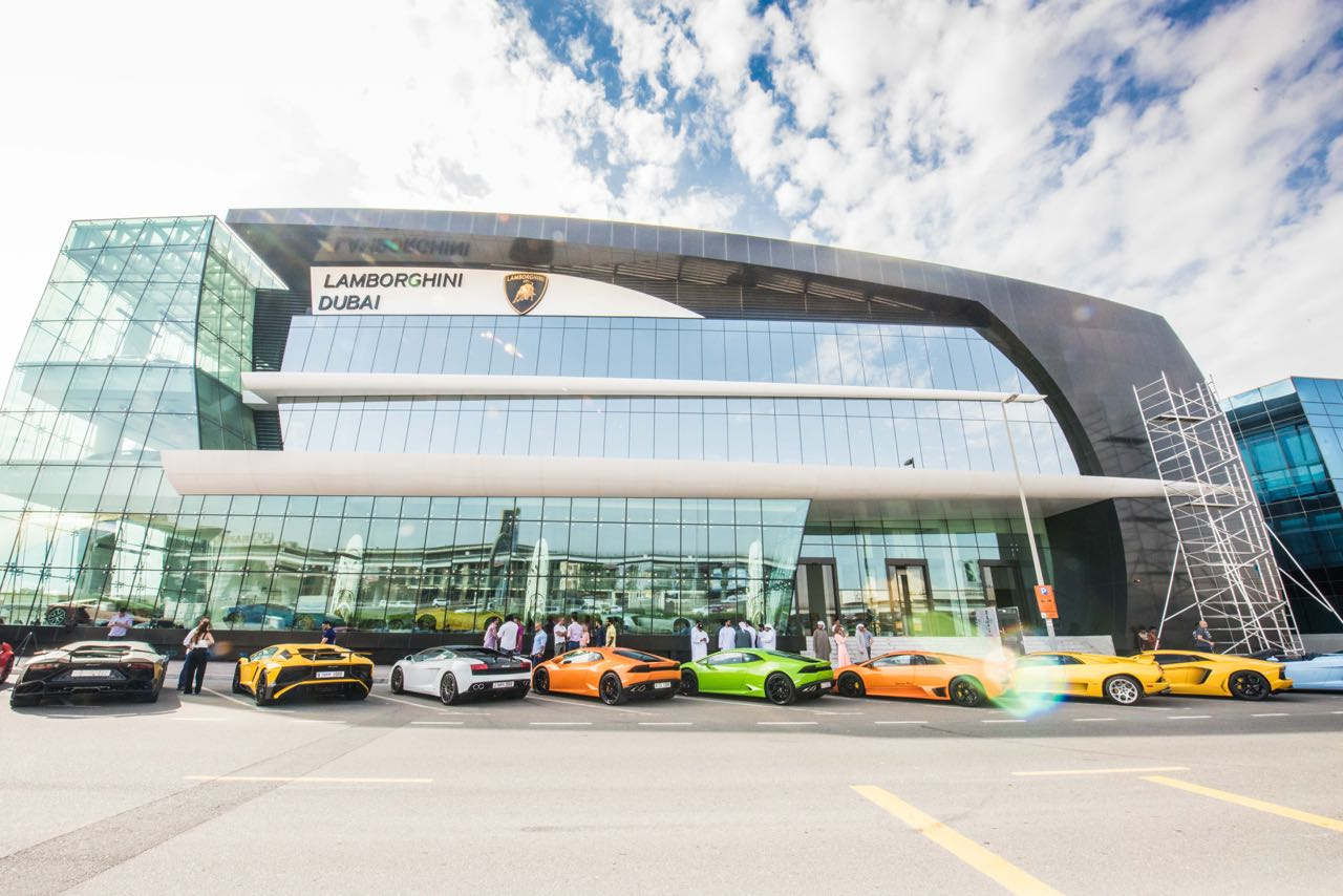World's Largest Lamborghini Showroom in Dubai