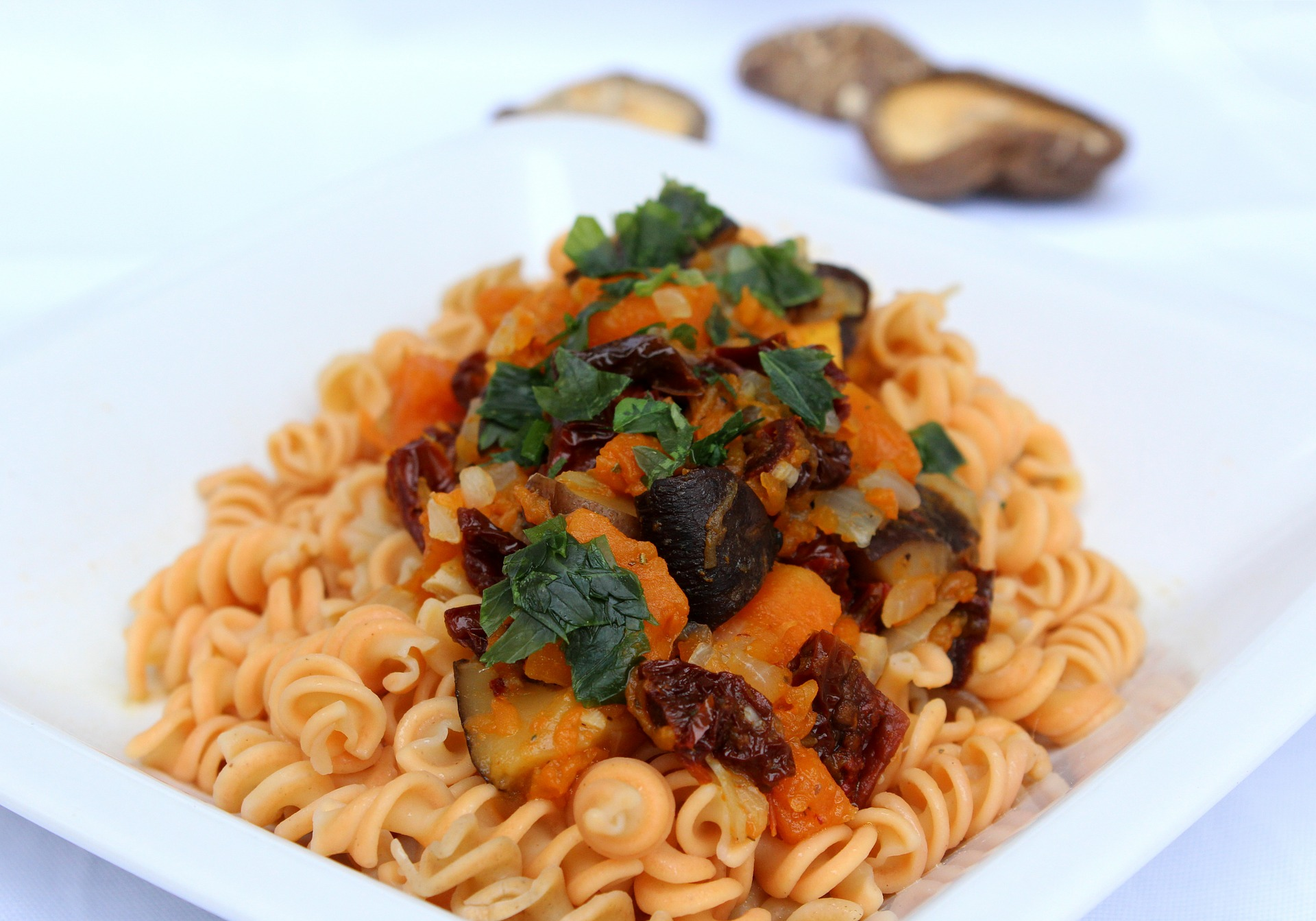 Pasta with Pumpkin Toping