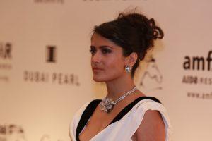 Salma Hayek at amfAR 2008