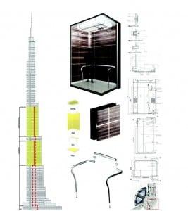 Burj Dubai residential elevator rendering
