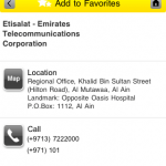 Etisalat Yellow Pages iPhone app exceeds 10,000 downloads
