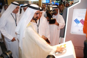 HH Sheikh Mohammed bin Rashid Al Maktoum launches the      Second Generation of the E-Dirham and Unveils New Logo during      GITEX
