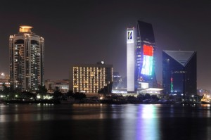 Emirates NBD -The largest illuminated National Flag in the UAE