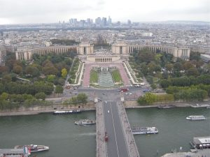 Paris from the Eifel tower, France