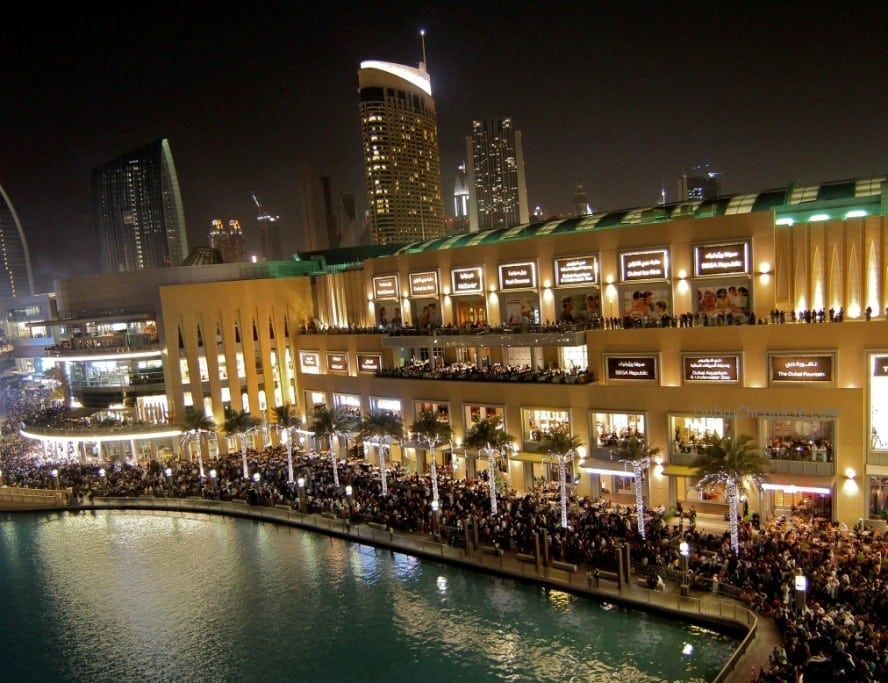 The Dubai Mall Waterfront Promenade at New Year