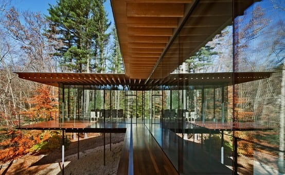 Wood Glass House