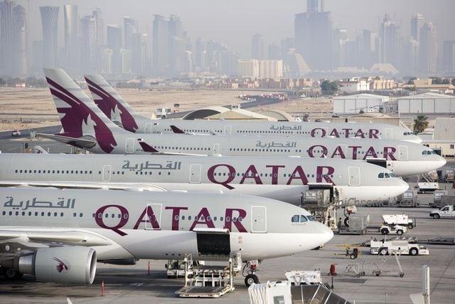 Qatar Airways planes Doha Airport