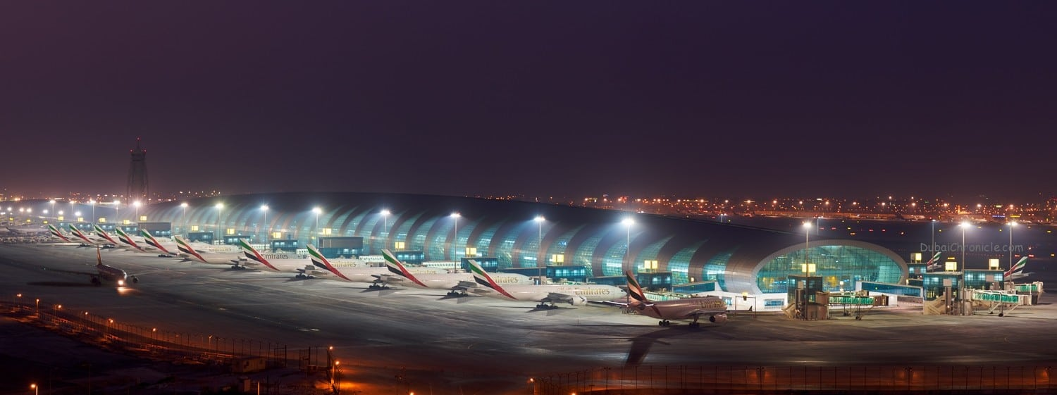 Terminal 3 in Dubai International Airport, the home of Emirates airline