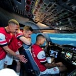 Arsenal's trio attempts to land an A380 in Dubai