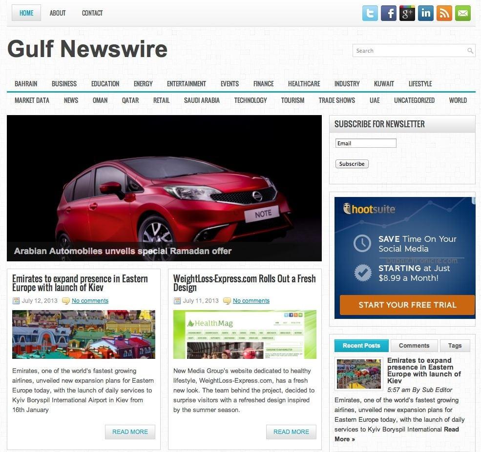 Gulf Newswire Screen