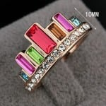 Rings with Swarovski elements are a fashion statement