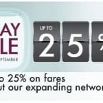 Save 25% off Airfares in a 4-Day Sale