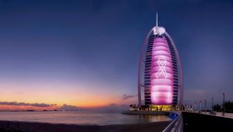Burj Al Arab - Pink Projection