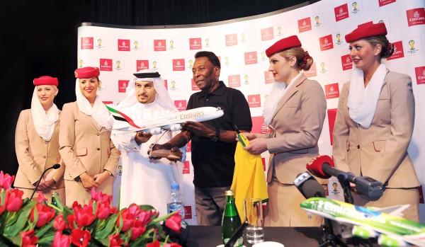 PELE PRESS CONFERENCE Dubai Emirates