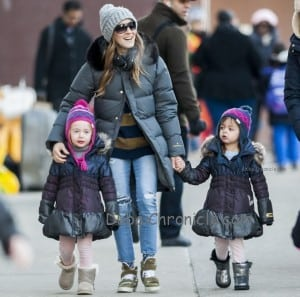 Sarah Jessica Parker and daughters Tabitha and Marion out in New York
