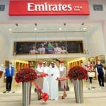 Sheikh Ahmed cuts the ribbon at Emirates Official Store at The Dubai Mall