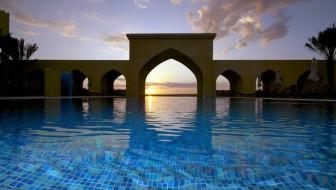 Tilal Liwa exterior pool