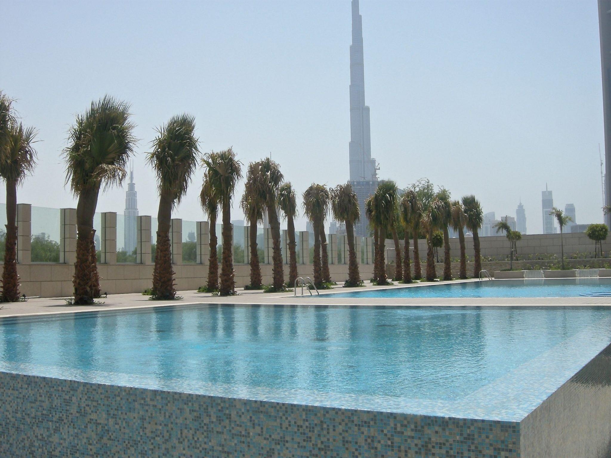 Burj Daman Pool Burj Khalfa