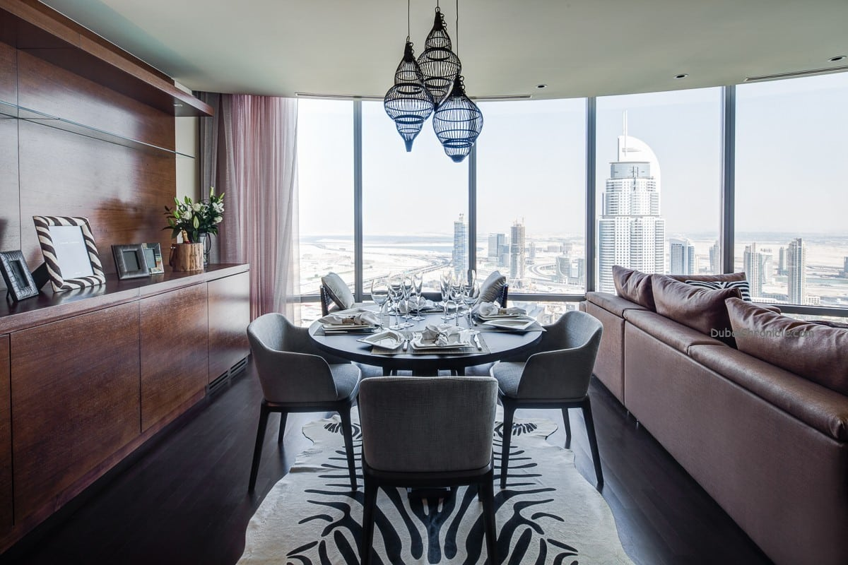 2 Bedroom Apartment Burj Khalifa Dinning Area