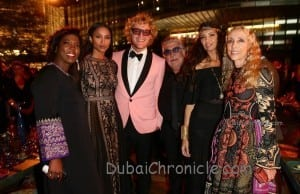 DUBAI, UNITED ARAB EMIRATES - OCTOBER 31:  (L-R) Ertharin Cousine, Ciara, Peter Dundas, Roberto Cavalli, Afef Jnifen and Franca Sozzani attend the Gala Event during the Vogue Fashion Dubai Experience on October 31, 2014 in Dubai, United Arab Emirates.  (Photo by Vittorio Zunino Celotto/Getty Images for Vogue & The Dubai Mall) *** Local Caption *** Ertharin Cousine;Ciara;Peter Dundas;Roberto Cavalli;Afef Jnifen;Franca Sozzani