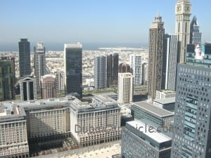 Panoramic View of DIFC from burj Daman Duplex Apartment