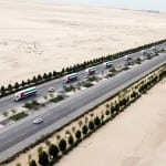 In celebration of 43rd UAE National Day 43 trucks, 43 flags, Create Longest Moving Convoy of UAE Flags