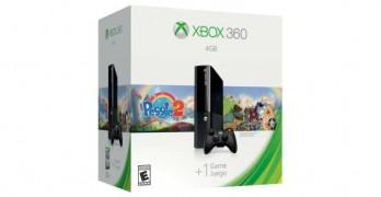 Xbox 360 4GB and Peggle 2 Bundle + Free Game