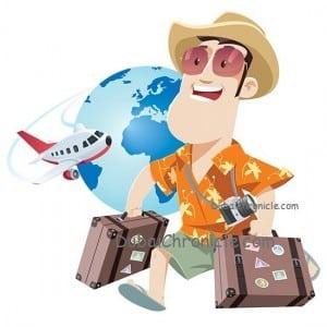 man travel single cartoon