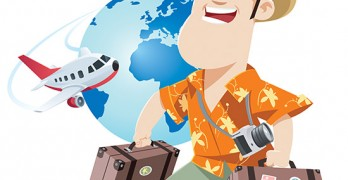 man travel single cartoon