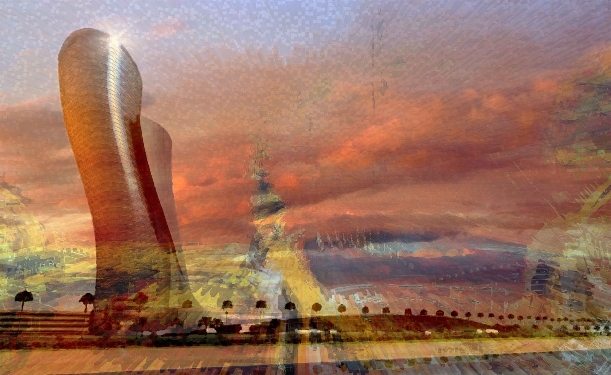 Vincent Messelier, Abu Dhabi Leaning tower