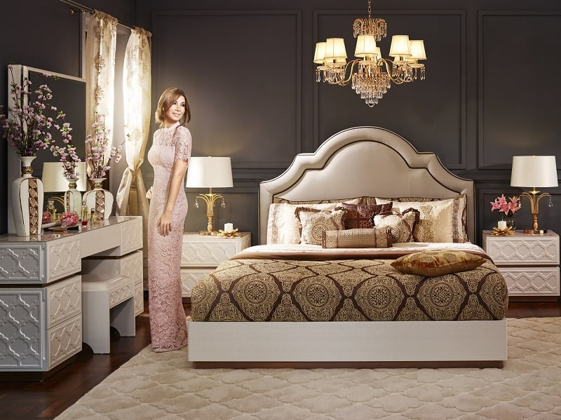 Brand ambassador nancy ajram reveals new furniture collections dubai chronicle Home center furniture in dubai