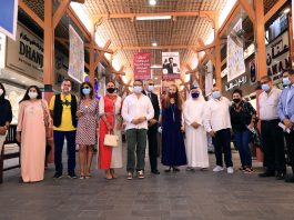 DGJG Board members along with the artists at the Gold Souk