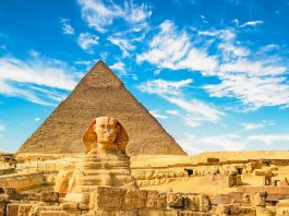 The Sphinx and Pyramid at Cairo, Egypt revealed by Skyscanner