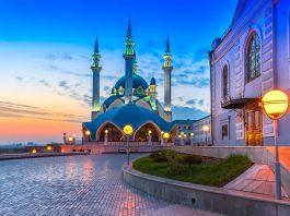 flydubai share the image of The Kul Sharif mosque in Kazan, Russia