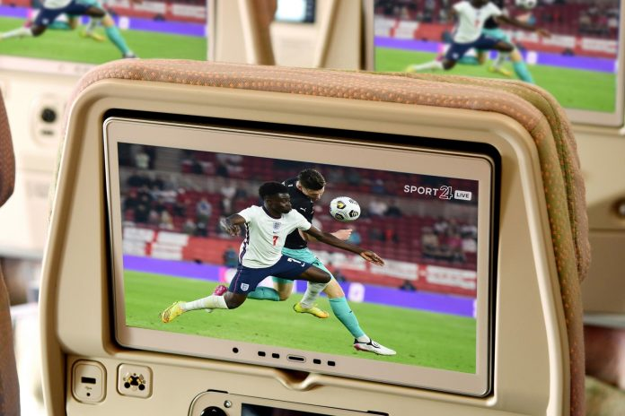 Emirates In-Flight entertainment screen