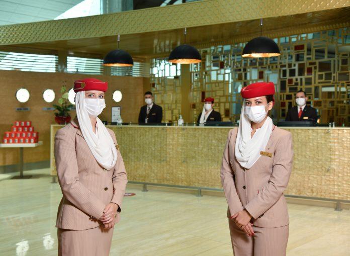 Emirates premium lounge at Dubai International (DXB's) concourse B